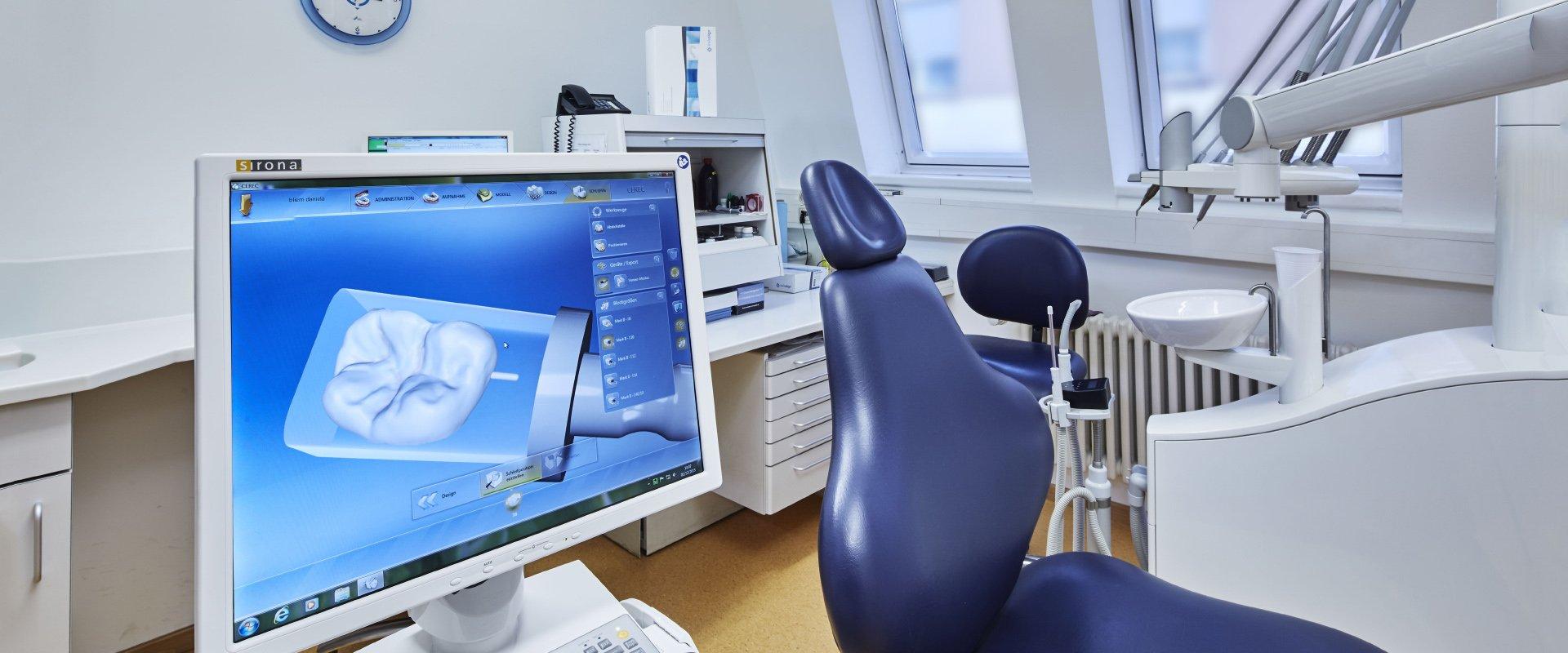 Der Behandlungsraum unserer Zahnarztpraxis